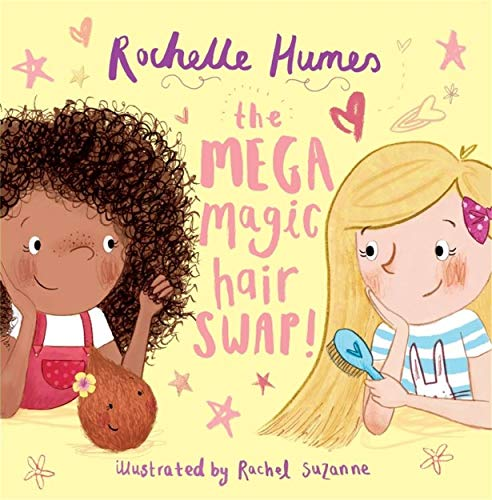 book cover: mega magic hair swap by rochelle humes