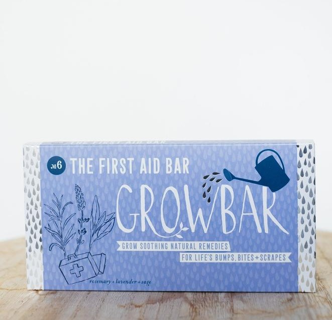 cornflower blue first aid grow bar, for growing natural remedies