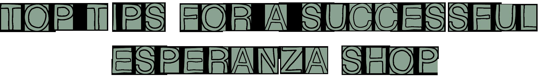 Text Reads: Top TIps For a Successful Esperanza Shop