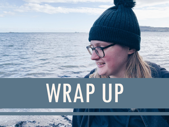 Text Reads: Wrap Up