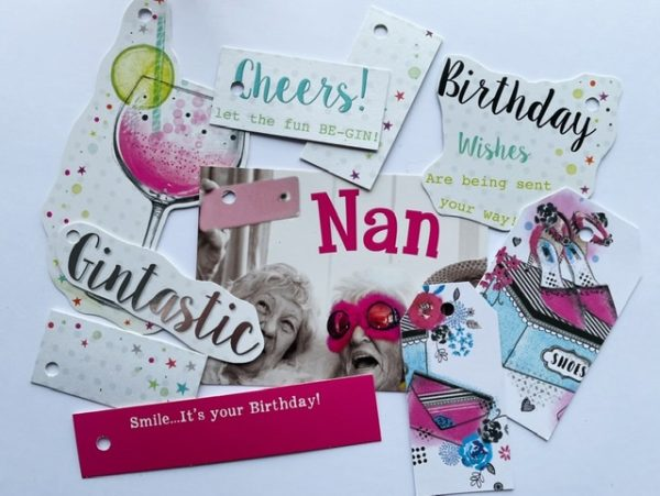 Lots of gin based tags, and a tag for Nan with some ladies giggling