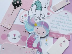 From purple mermaids to pooh bear, fun kids character tags